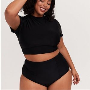 Torrid | black bikini rash guard